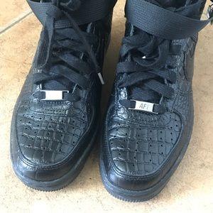 Nike Lunar Force 1 Sky Hi PRM Black Croc 8.5